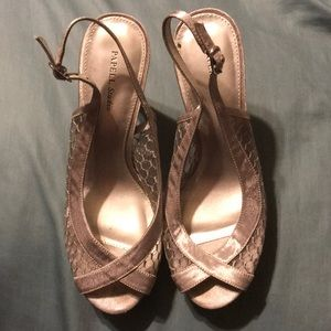 Papell Boutique Shoes - Size 7 Silver Papell Studio heels.